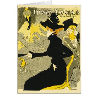 Card:  Divan Japonais by Toulouse-Lautrec Card