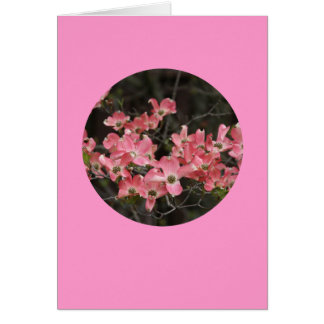 """Card, """"Dogwood Blossoms in Circle"""" # 5 Greeting Card"""