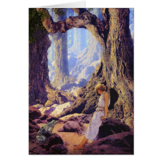 Card:  Enchanted Prince- Maxfield Parrish Card