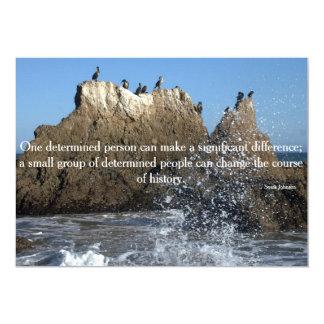 Card - Encouragement - Splashing Waves Custom Announcement