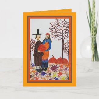 Card, Fall Harvest, Thanksgiving card