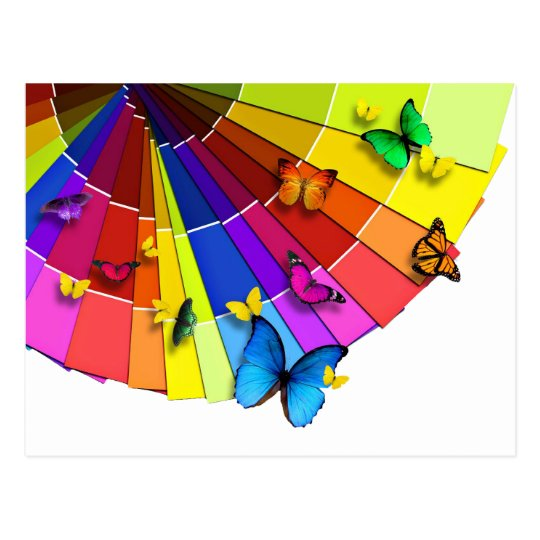 """Card """"Fan of butterflies """""""