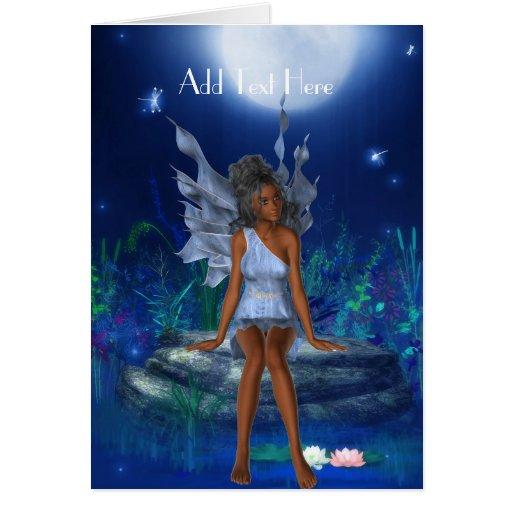 Card Fantasy Art Blue Fairy Girl 2 Cards