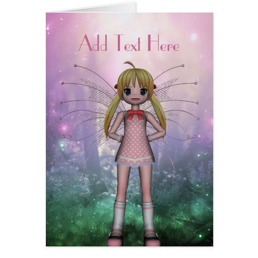 Card Fantasy Art Pink Fairy Girl 2 Cards