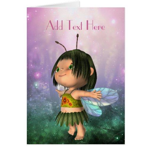 Card Fantasy Art Pink Fairy Girl 3 Greeting Card