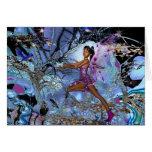 Card Fantasy Art Purple Fairy