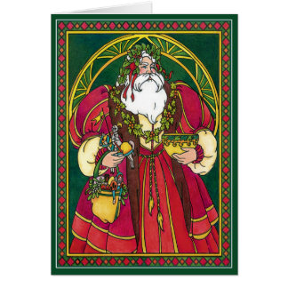 Card:  Father Christmas - Santa - Winter Solstice