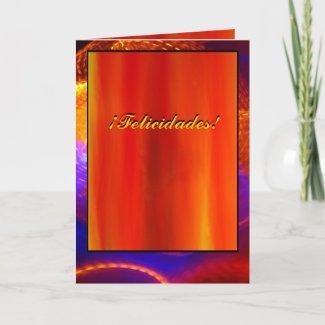Card - ¡Felicidades! - Naranja-Roja