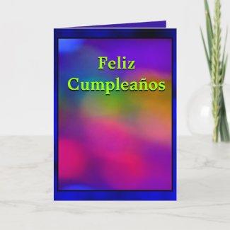 Card - Feliz Cumpleaños - Abstracto Arte