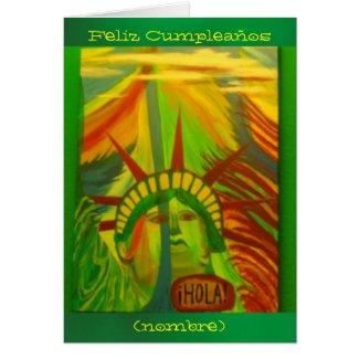 Card - Feliz Cumpleaños - Estatua de la Libertad Greeting Card