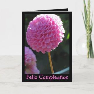 Card - Feliz Cumpleaños - La Dalia Rosa
