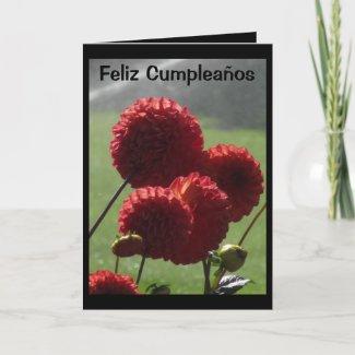 Card - Feliz Cumpleaños - Las Dalias Rojas
