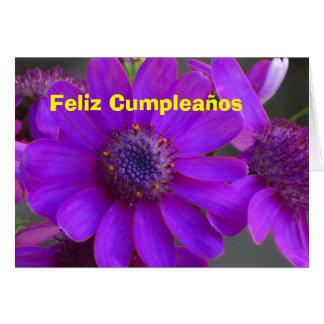 Card - Feliz Cumpleaños - Margarita Púrpura