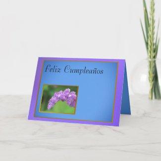 Card - Feliz Cumpleaños - Purple Flower