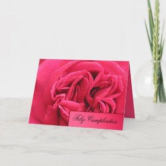 Card - Feliz Cumpleaños - Rosa rosa