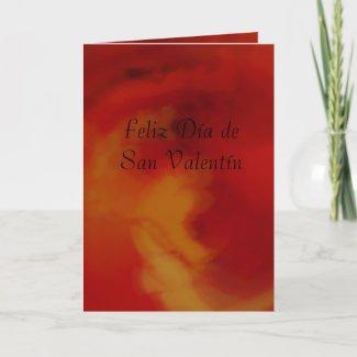 Card - Feliz Día de San Valentín - Roja-Naranja