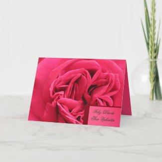 Card - Feliz Día de San Valentín - Rosa rosa