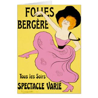 Card: Folies Bergère by Leonetto Cappiello