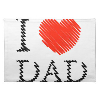Card for Dad with scribbled effect Cloth Placemat