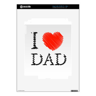 Card for Dad with scribbled effect iPad 2 Skins