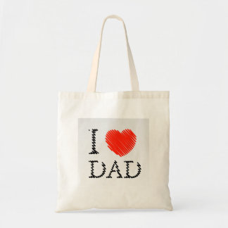 Card for Dad with scribbled effect Tote Bag