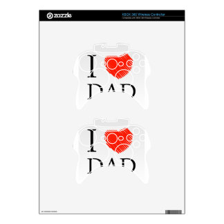 Card for Dad with scribbled effect Xbox 360 Controller Skin