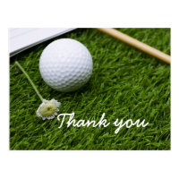 Card for golfer, Thank you