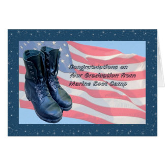 Card for Marine Boot Camp Graduation