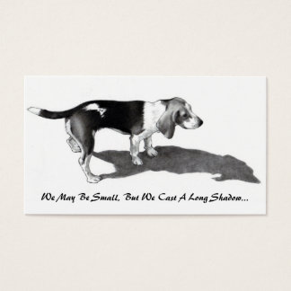 CARD FOR SMALL BUSINESS: PENCIL ART: DOG