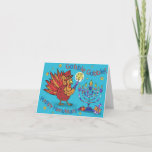"""Card for Thanksgiving and Hanukkah-ThankWarukkah!<br><div class=""""desc"""">When Chanukah and Thanksgiving fall on the same day,  it's """"Thanksgiving ukkah"""" This year,  there is a once in a overlap! Celebrate with fun mashups like this fun Turkey. Gobble,  gobble!</div>"""