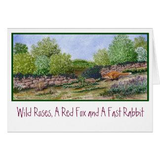 Card- Fox   a rabbit.. Card