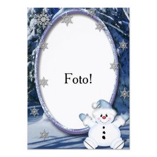 """Card frame """"Bonequinho of snow """""""
