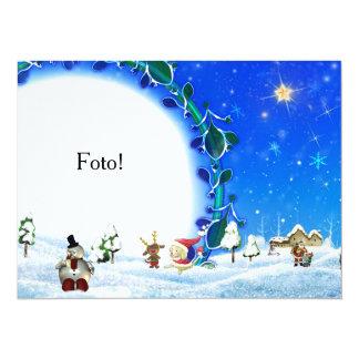 """Card frame """"Family Papa Noel """""""