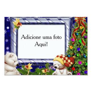 "Card frame for photo ""natalino polar Bear """