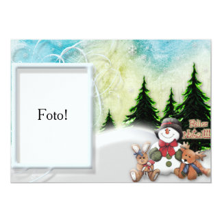 """Card frame """"Happy Christmas in the snow """""""