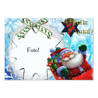 """Card frame """"Happy Christmas of Papa Noel """""""