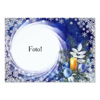 "Card frame ""natalina Candle """