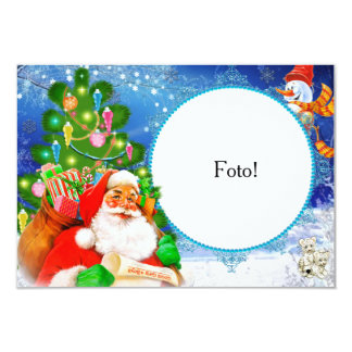 """Card frame """"Papa Noel and its presents """""""
