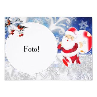 "Card frame ""Papa Noel ball """