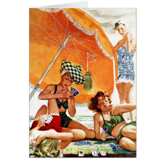 Card Game at the Beach by Alex Ross
