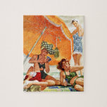 """Card Game at the Beach by Alex Ross Jigsaw Puzzle<br><div class=""""desc"""">Card Game at the Beach by Alex Ross 