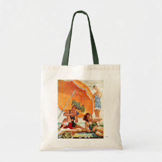 Card Game at the Beach by Alex Ross Tote Bag