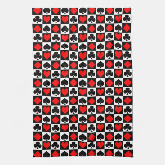 Card Game Suits Kitchen Towel
