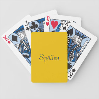 Card game yellow bicycle playing cards