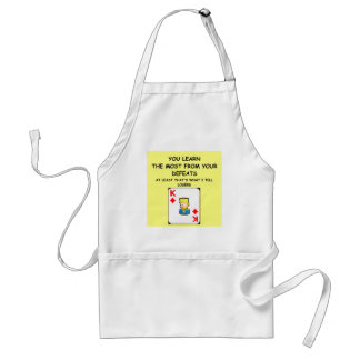 card games adult apron