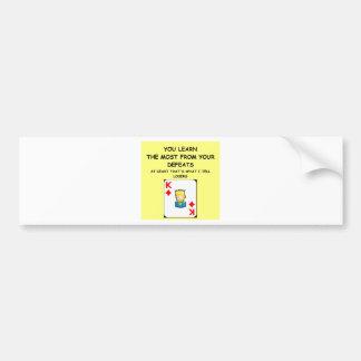 card games car bumper sticker