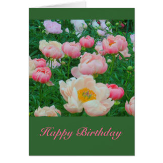 Card GARDEN OF PASTEL PEONIES Greeting Cards