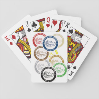 Card Gator Playing Cards all colors to customize.