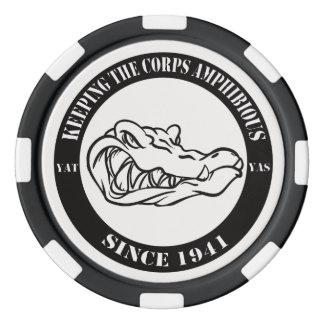 Card Gators Black Chips Poker Chips