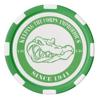 Card Gators Green Chips Poker Chips